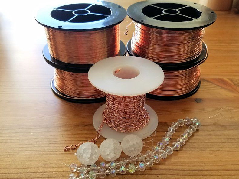 The basic materials needed to make the Chalice Necklace are pictured here and itemized below.