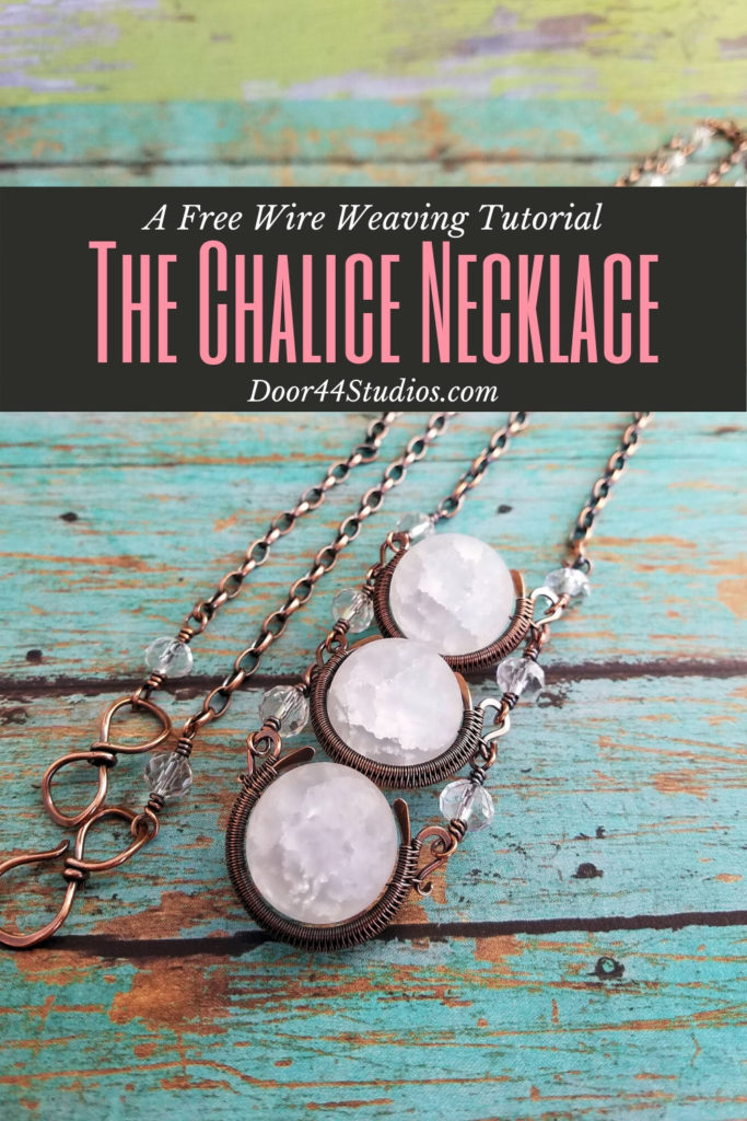 Have you ever wanted to learn wire weaving? This beginner-friendly tutorial will help you get started! Learn to make the stunning Chalice Necklace, step-by-step in this free tutorial from Door44Studios.com.