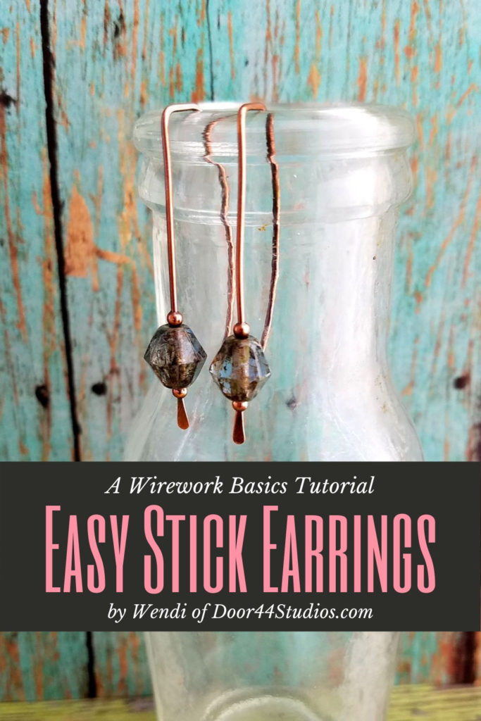 Have you ever wanted to learn to make wire jewelry? These sweet little stick earrings are the perfect first project. In this free tutorial, I'll show you how to make these Easy Stick Earrings in minutes.