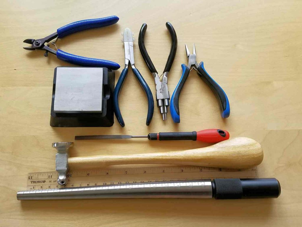 How to Make the Pretty Little Lyonesse Pendant - The tools needed to make this necklace are pictured here and itemized below.