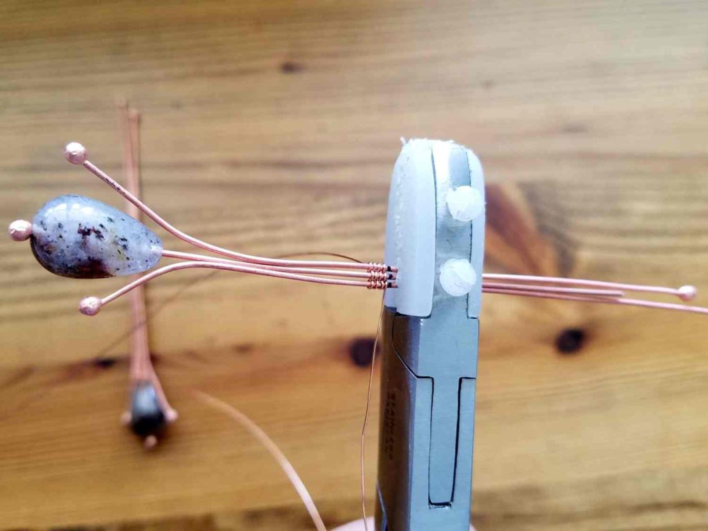 Door 44 Studios Twig Earrings Tutorial - Weaving Step 3