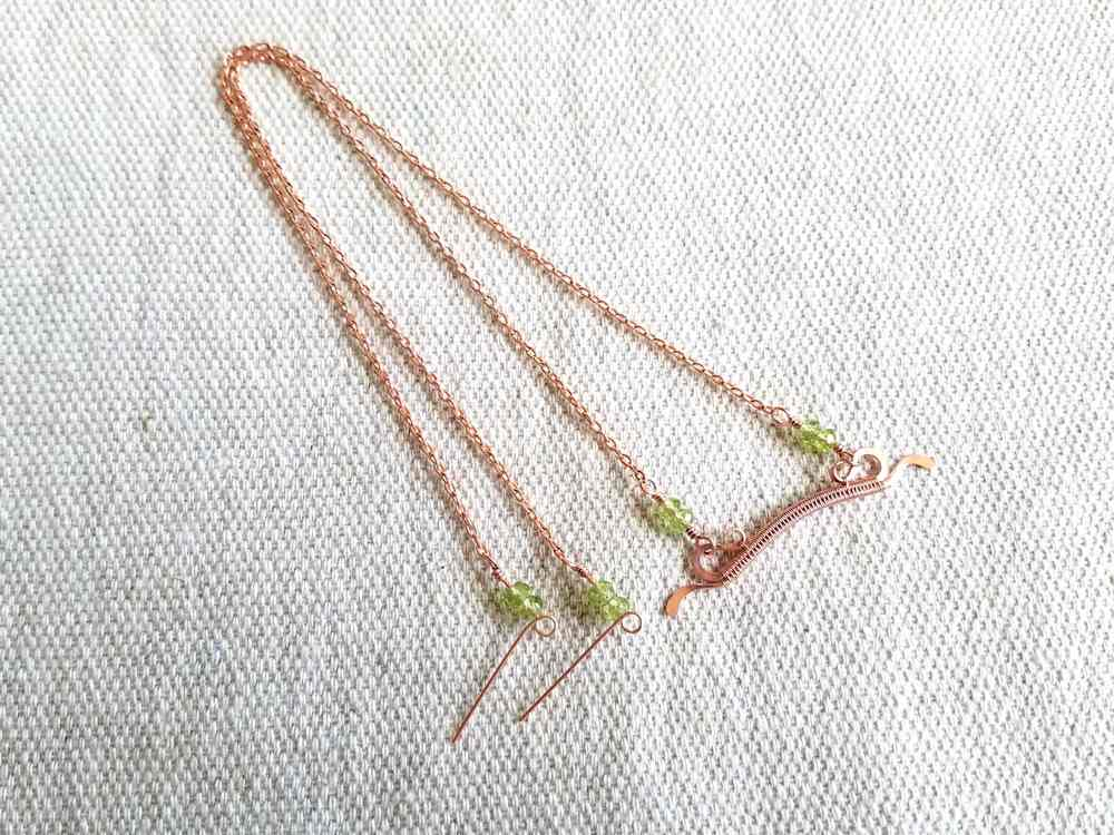 Delicate Bar Pendant, Step 19: Repeat steps 17 and 18 on the other side of the pendant. Your necklace is now ready for the clasp