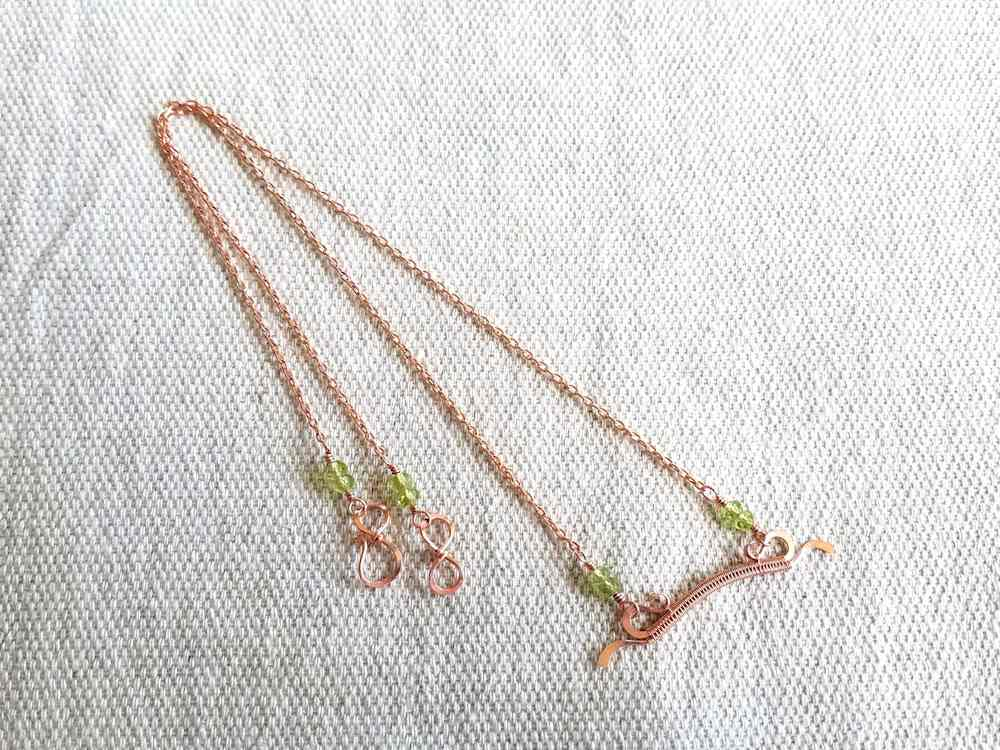 Delicate Bar Pendant, Step 20: Attach one half of your clasp to each half of the necklace chain.