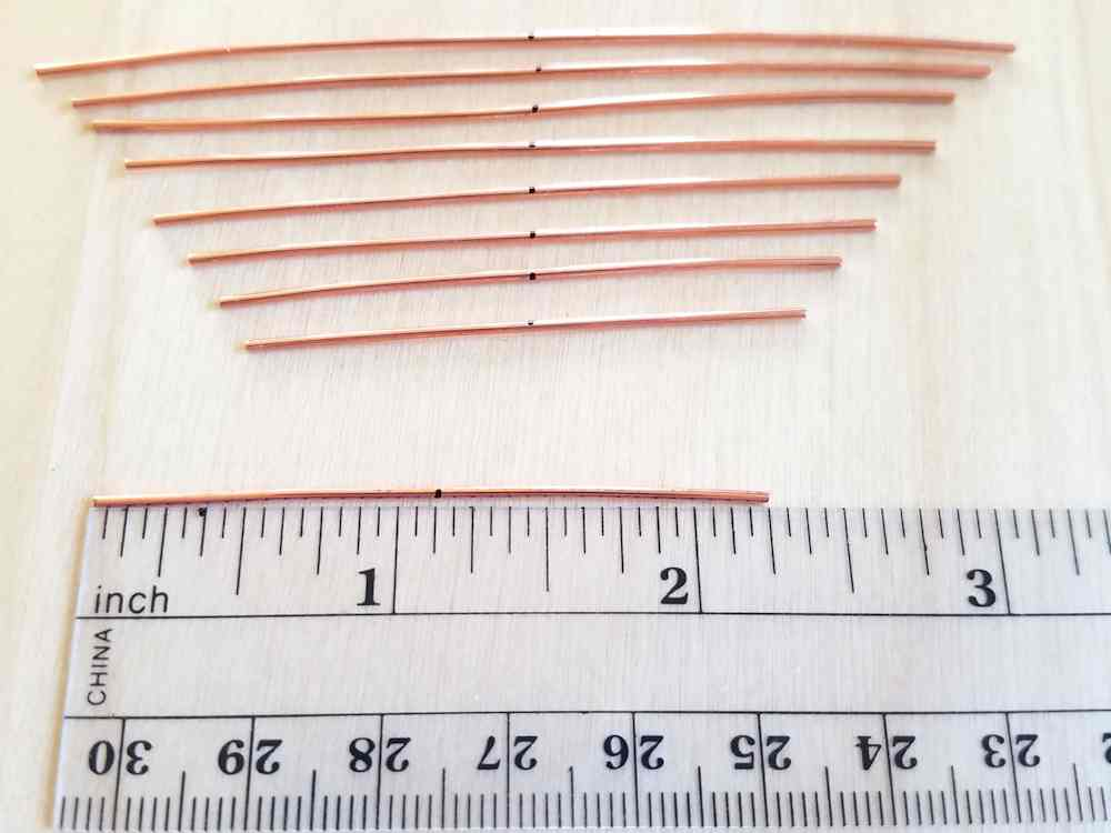 Door 44 Studios Ancestor Pendant Tutorial: Step 2, measure and cut 18g core wires