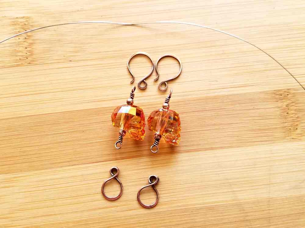 Step 14 - Patina your wire components now, if you want your Spooky Halloween Tassel Earrings to have an antiqued finish.
