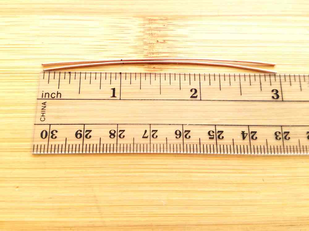 Step 1 - Measure and cut two pieces of 22g wire 3-inches long