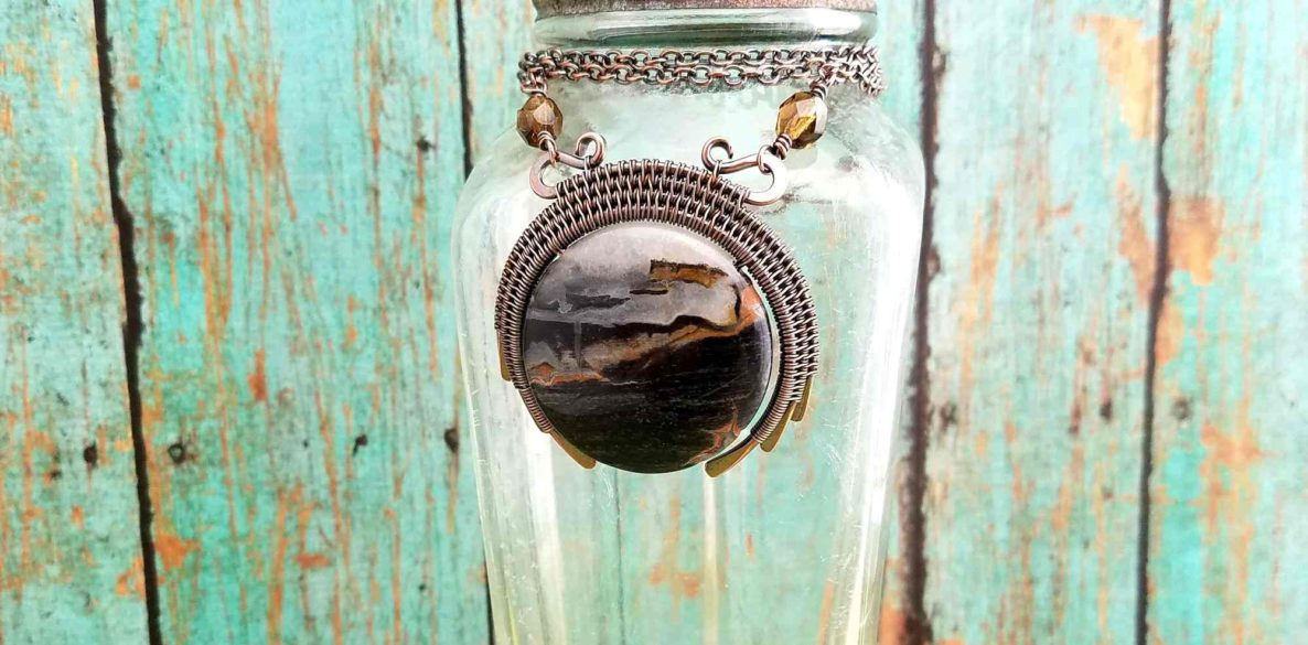 The dark and moody New Moon Pendant is the epitome of Door 44 style. Learn to create this gravity-defying wire woven pendant yourself with my latest FREE tutorial! This beginner-friendly pendant goes together quickly. Give it a try today!