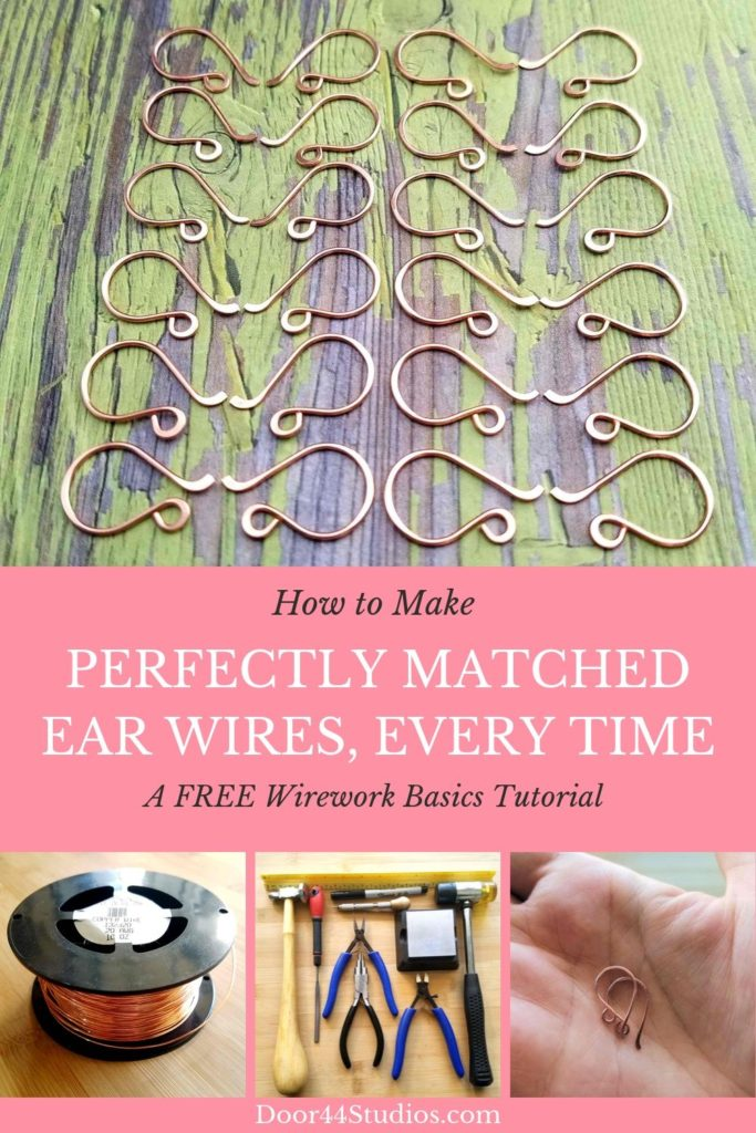 Learn to make perfectly matched ear wires, every time, with this FREE wirework basics tutorial from Door 44 Studios.