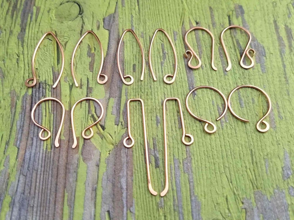 These are a few simple variations of the perfectly matched ear wires. All six pairs of ear wires shown here were created using the same technique outlined in this tutorial.