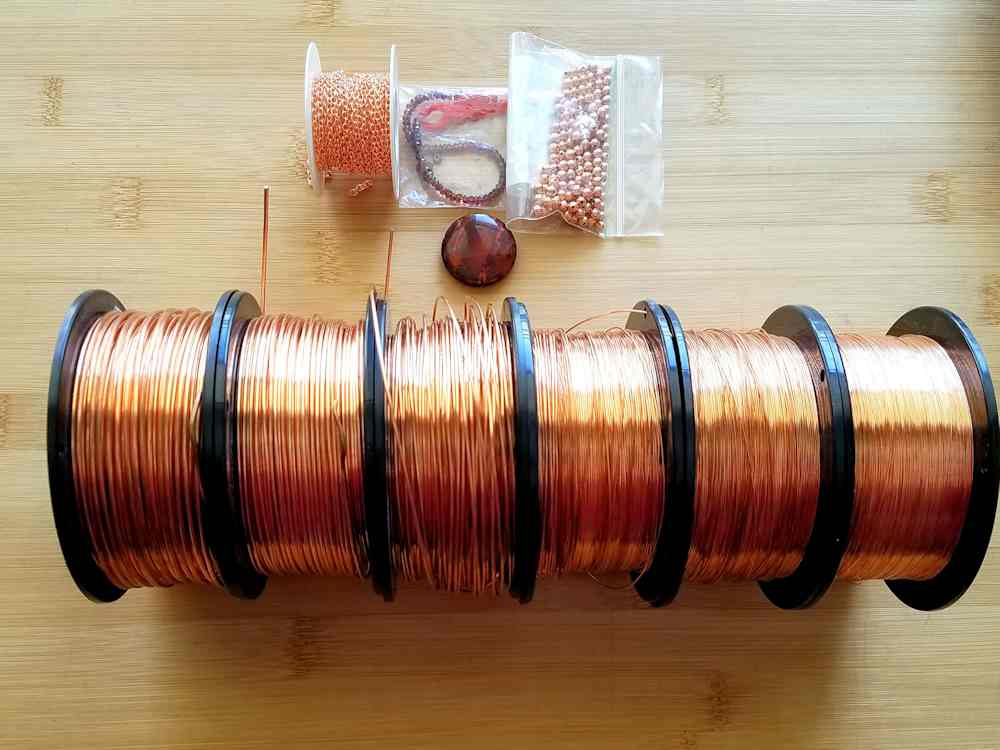 Pictured here (and listed below) are all the materials needed to make the Egyptian Sun Pendant.