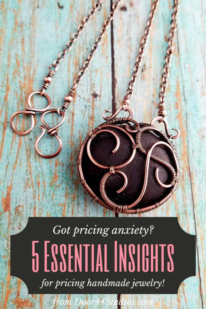 Pricing handmade jewelry is hard. But it's even harder if you don't approach it with the right mindset. These are five essential lessons that have helped me manage my own pricing anxiety. I hope they'll help you too!