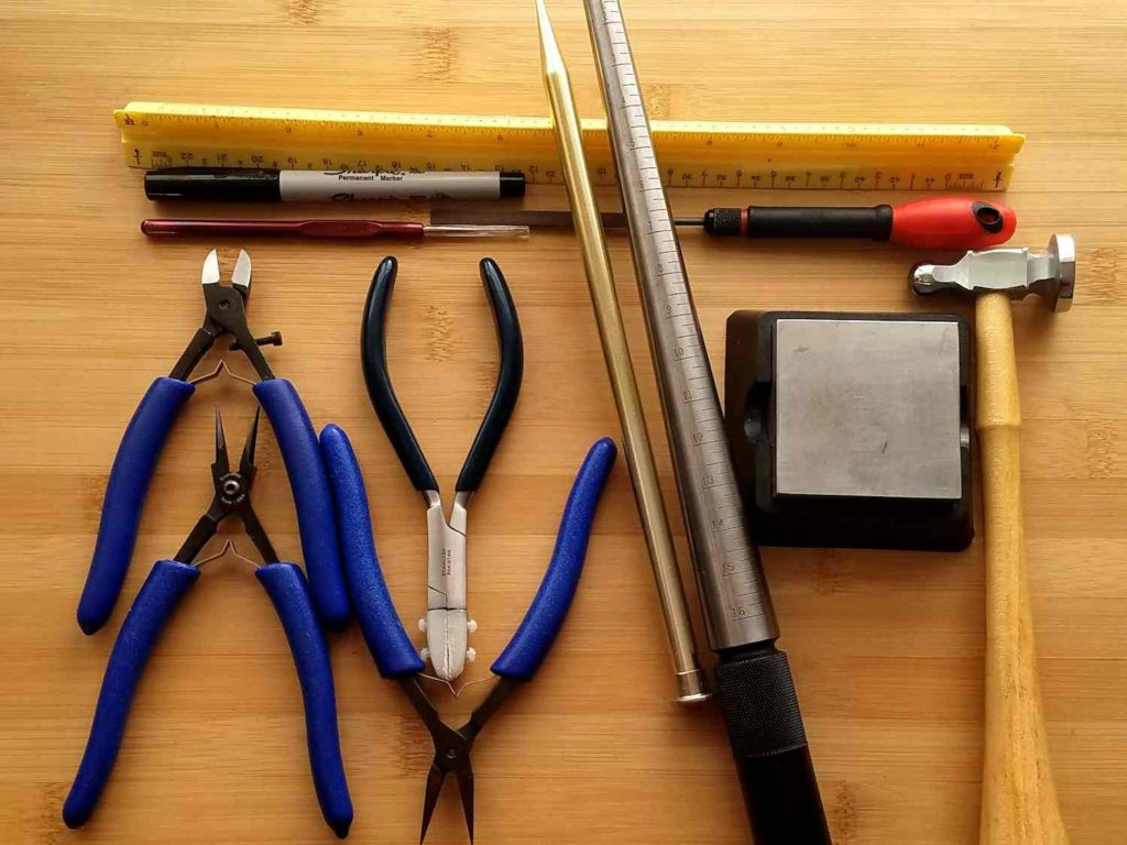 These are the basic hand tools needed to make the Portico Pendant. The tools are itemized in the list below.