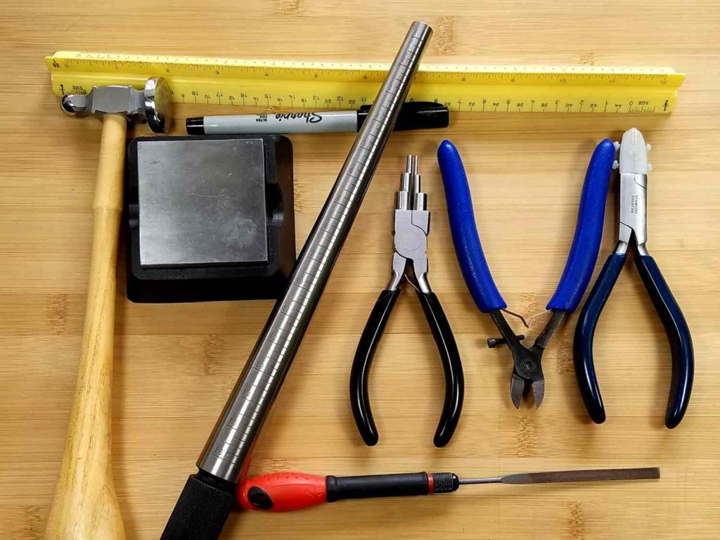 The tools needed to create the Rosewood Pendant are pictured here and itemized below.