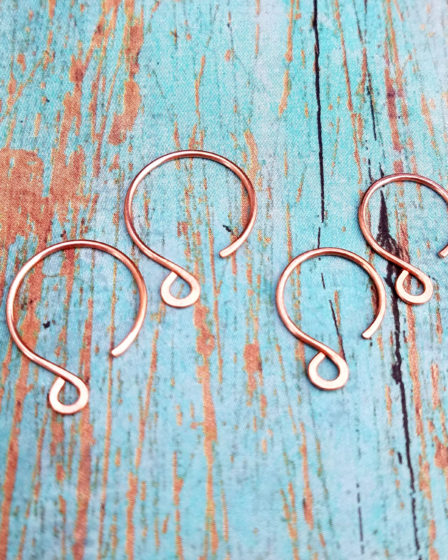 How to Make Perfectly Matched Circle Ear Wires - A free wirework basics tutorial from Door44Studios.com