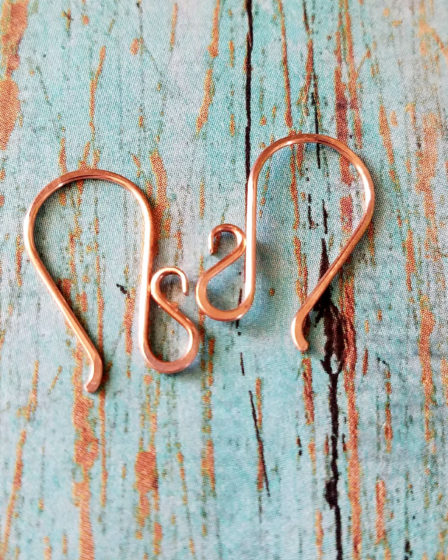 The Flourish Ear Wires - A Wire Jewelry Basics Tutorial from Door 44 Studios - Feature Image