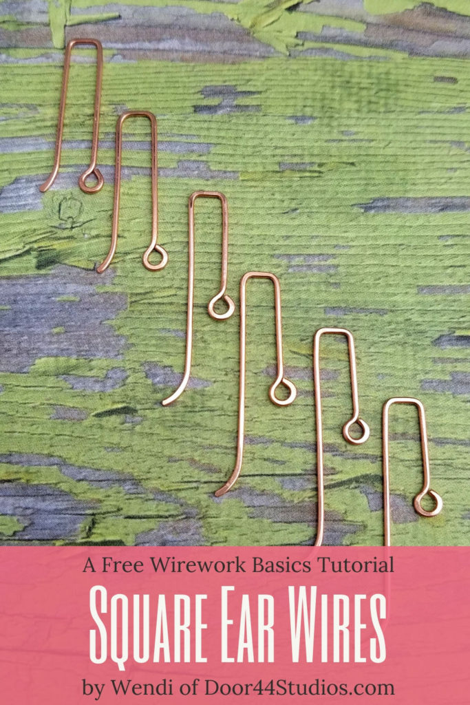 Earring findings are easy to make and handmade findings will help your jewelry stand out in the crowd. Learn to make these unique and versatile Square Ear Wires with my latest free wirework basics tutorial!