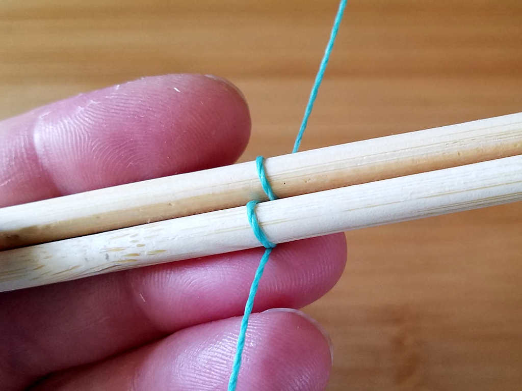 Step 4 - Wrap the weaving wire once around Core 2, as shown.
