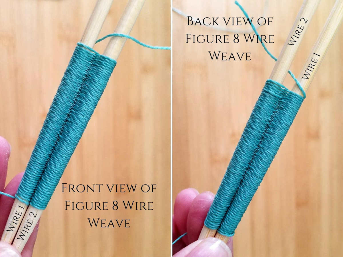 This image shows a comparison of the front and back surfaces of the Figure 8 wire weave. Visually, the differences are almost indistinguishable.