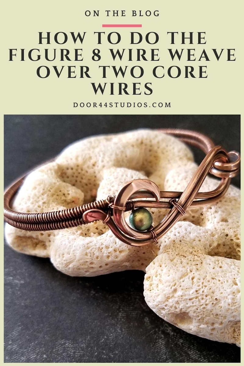 The Figure 8 Wire Weave is a staple among wire weavers. Learn the secrets to mastering this beautiful and functional wire weaving pattern in this free tutorial from Door 44 Studios.