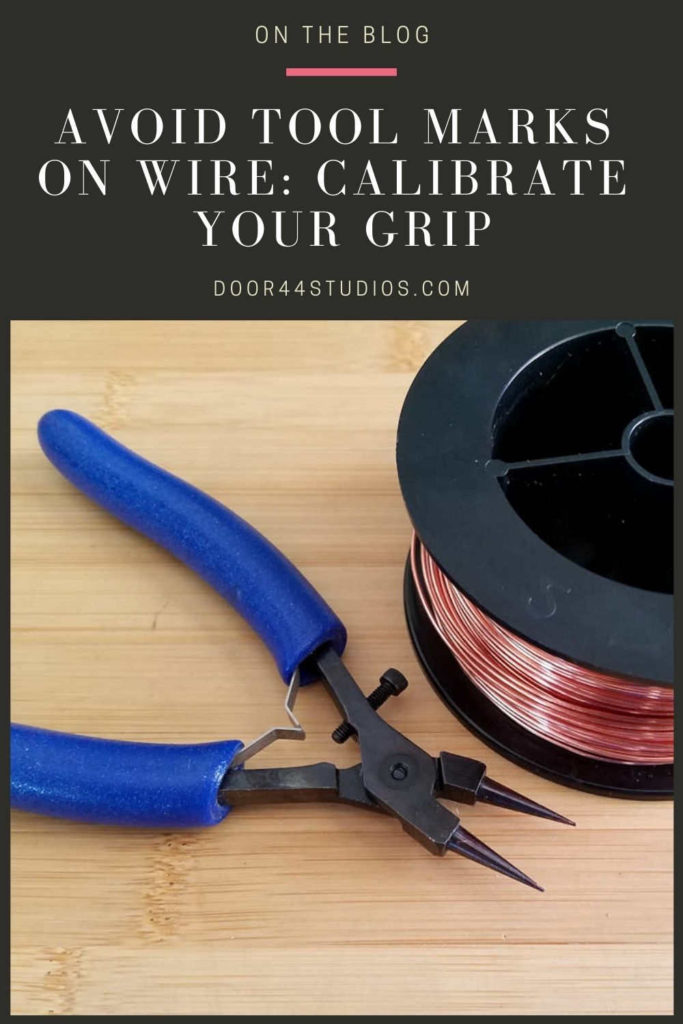 Learning to avoid making tool marks on jewelry wire is one of the biggest struggles for beginner wire weavers. In today's blog post, I show you how to calibrate your grip so you can avoid tool marks on your wire without having to modify your pliers.