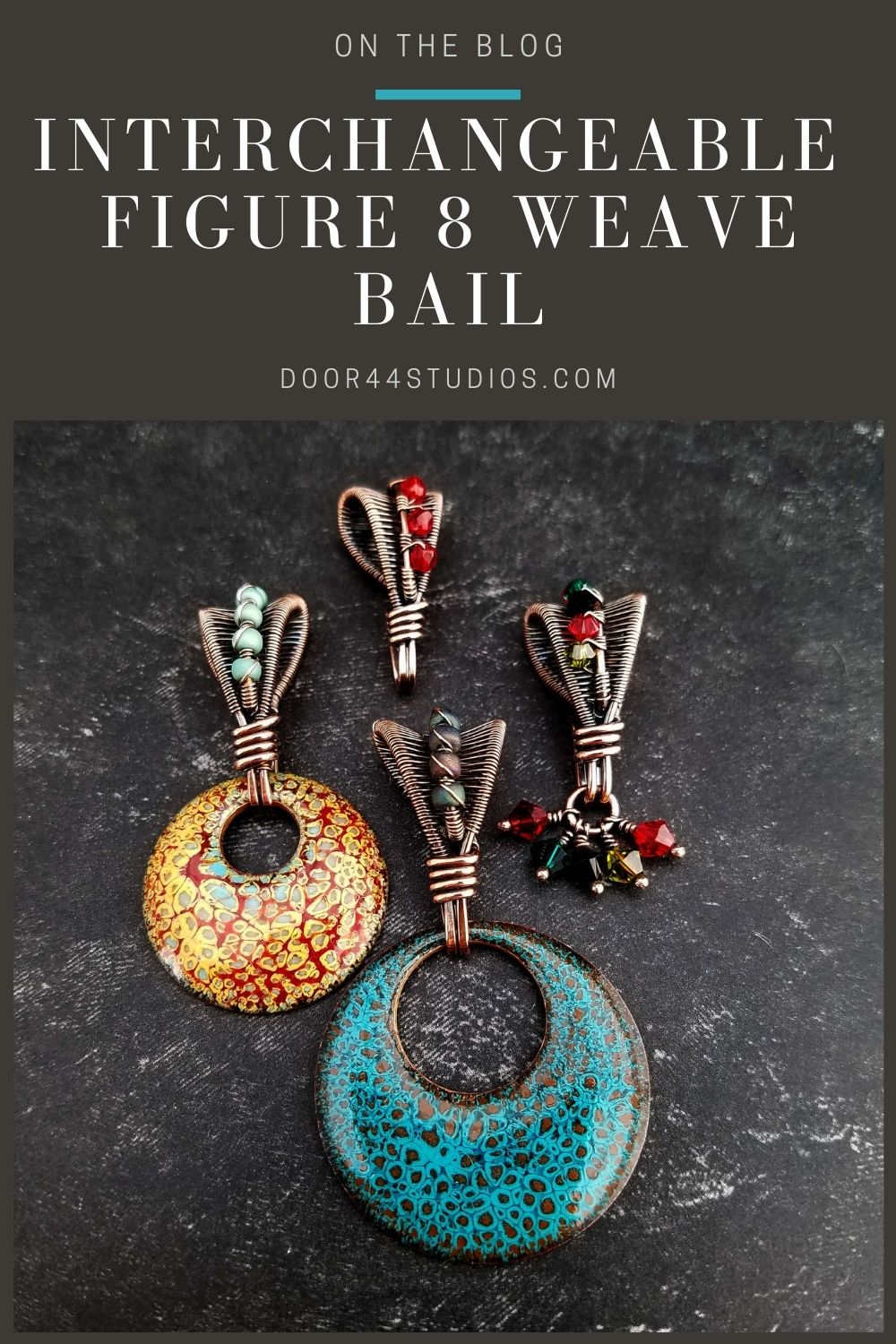 Have you ever wanted a pendant bail that would allow you to swap out different pendants and embellishments? If so, this interchangeable bail featuring the Figure 8 weave and a pretty beaded accent is the solution you've been looking for. Learn to make this versatile bail with our free tutorial.