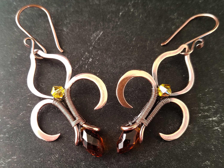 The Fleur de Lis Earrings, designed by Wendi Reamy of Door 44 Studios