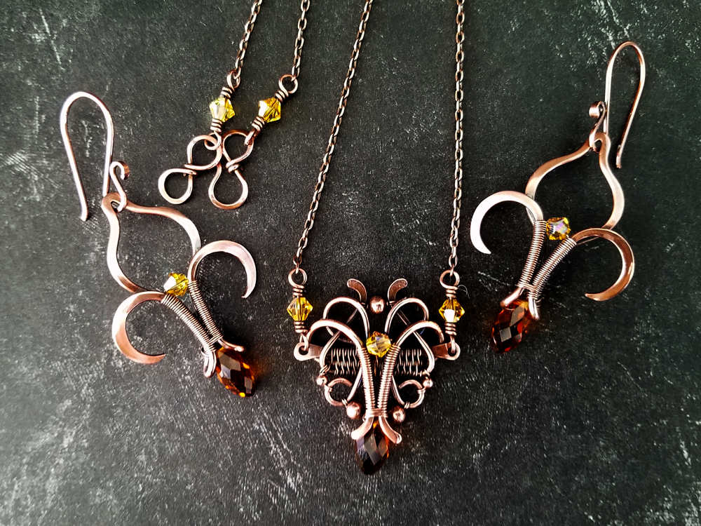 Fleur de Lis Earrings designed by Wendi Reamy and inspired by the Florence Pendant, designed by Sarah Thompson