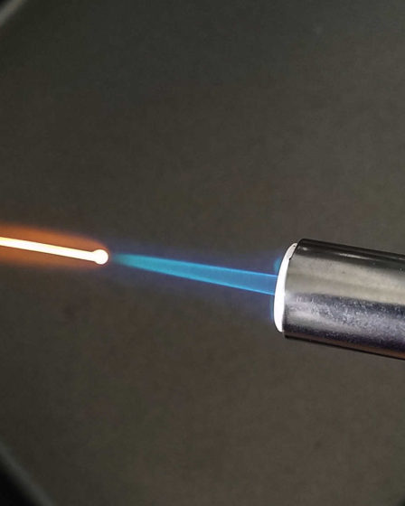 Balling copper wire with a butane torch