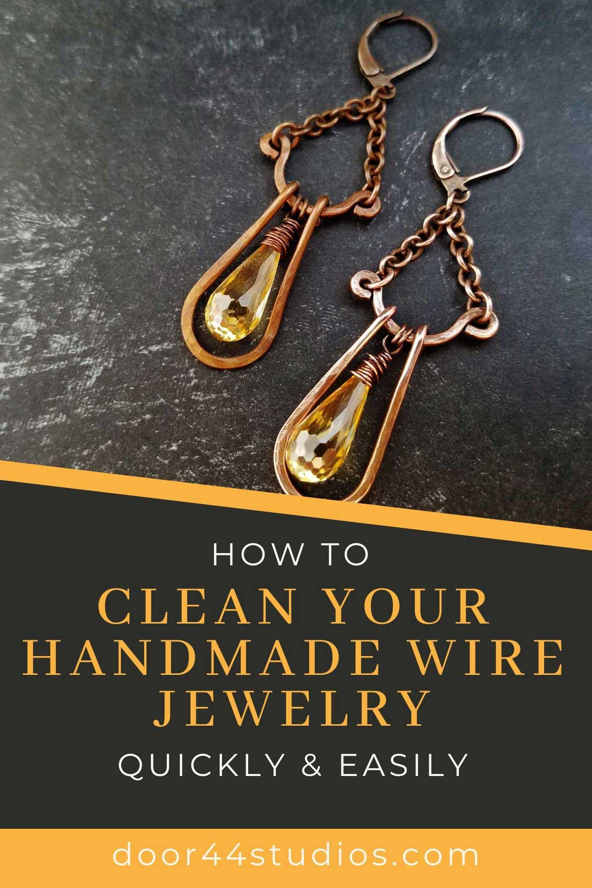 Learn how to clean your handmade wire jewelry with this quick and easy tutorial!