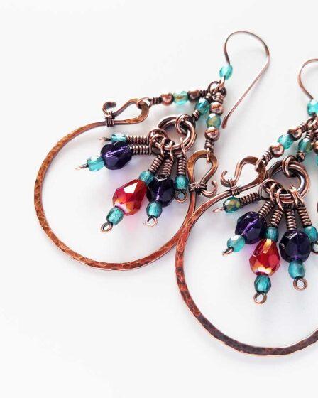 Lucky-U Chandelier Earrings - A wire jewelry basics workshop project